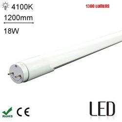 LED 120CM T8 18W 4000K SC Świetlówka LED neutralna 1200mm o mocy 18W 1300 lumenów 4000K (świetlówka) od Avde.pl