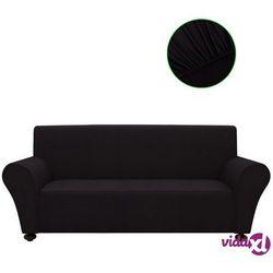 vidaXL Elastyczny pokrowiec na sofę, z dżerseju, czarny (8718475962045)