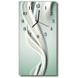 Zegar szklany pionowy sztuka abstrakcja linie szary marki Tulup.pl