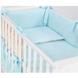 Mamo-tato dwustronna rozbieralna pościel dla niemowląt 3-el turkus / beż do łóżeczka 60x120 cm