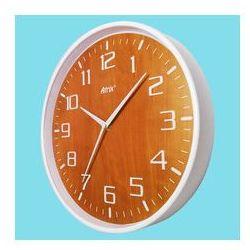 Zegar ścienny biały drewniana tarcza #1, kolor biały