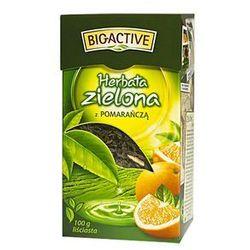 Bio-Active zielona z pomarańczą 100g liściasta (herbata zielona)