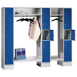 Eugen wolf System garderob ze schowkami, 15 przedziałów na zewnątrz / w środku, 15 wieszakó