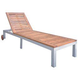 Vidaxl leżak z drewna akacjowego, 207 x 70 (31-88) cm (8718475960270)