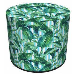 Producent: elior Zielono-biała okrągła designerska pufa - atola