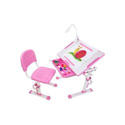 Ergonomiczne biurko z krzesełkiem - cubby karo pink funnydesk marki Fundesk