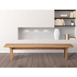 Drewniana ławka z drewna brzozowego carris arras marki Beliani