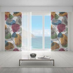 Zasłona okienna na wymiar - FLOWER FLAKES COLOURFUL