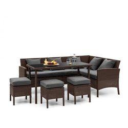 titania dining lounge set komplet mebli ogrodowych brązowy/ciemnoszary marki Blumfeldt