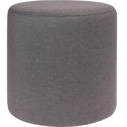Pufa bawełniana, siedzisko, podnóżek, ciemnoszary - 35 x 35 cm, kolor szary