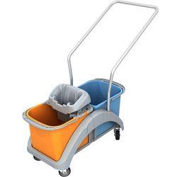 Wózek do sprzątania dwuwiadrowy 2 x 20 litrów z wyciskarką do mopa i uchwytem TS20018 Splast, NTS20018