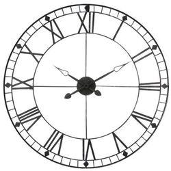 Metalowy zegar ścienny VINTAGE - kolor szary, Ø 90 cm