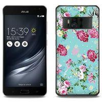 Fantastic Case - Asus Zenfone AR - etui na telefon Fantastic Case - różyczki na miętowym tle, kolor różow