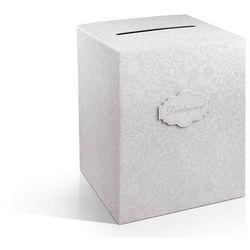 Pudełko na pieniądze, telegramy, 25 x 25 x 30cm.