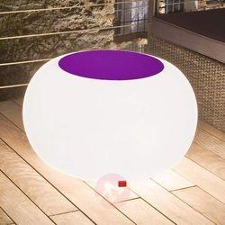 Moree Stół bubble, białe światło i fioletowy filc (4260218361867)