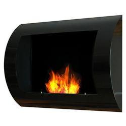Ecofire Biokominek dekoracyjny 60x45 cm czarny convex by