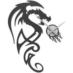 Calleadesign Zegar ścienny dragon  czarny