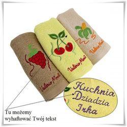 3 - elementowy zestaw ręczników kuchennych wraz z haftowaniem dedykacji, towar z kategorii: Na parapetówkę