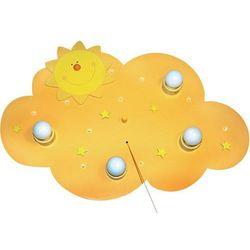 Lampa sufitowa dla dzieci Waldi Leuchten 66103.0, E14, (SxWxG) 62 x 52 x 8 cm, żółty