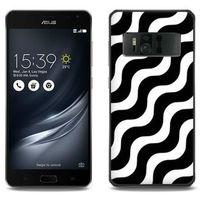 Fantastic case - asus zenfone ar - etui na telefon fantastic case - biało-czarna fala marki Etuo.pl