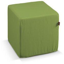 pufa kostka, spring green (limonkowa zieleń), 40 × 40 × 40 cm, cotton panama marki Dekoria