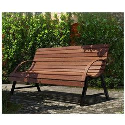 Drewniana ławka ogrodowa wagris 130 cm - orzech marki Producent: elior