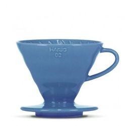 Hario - ceramiczny dripper V60-02 - niebieski + 40 szt. filtrów