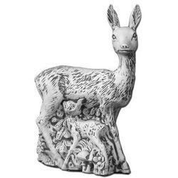 Figura ogrodowa betonowa sarna z młodymi 83cm