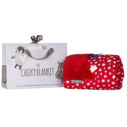 Luksusowy kocyk Red Stars Cheeky Blanket