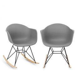 skandi, krzesło bujane, zestaw 2 sztuk, polipropylen, szary marki Blumfeldt