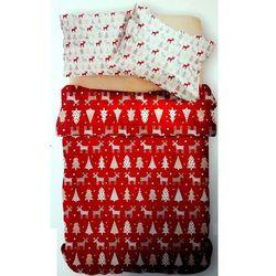 Święta Mikołaj Renifer Prezent Pościel świąteczna 160x200, 5016