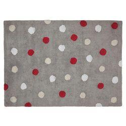 Dywan do prania w pralce: tricolor topos - grey rojo/red (120x160 cm), marki Lorena canals