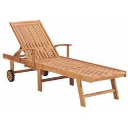 Drewniany leżak ogrodowy - algero 2x marki Elior