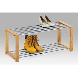 Półka na buty, 2 piętra, naturalne drewno (szafka na buty)