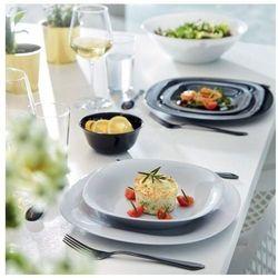 Komplet obiadowy Carine 18-elementowy biało-szary