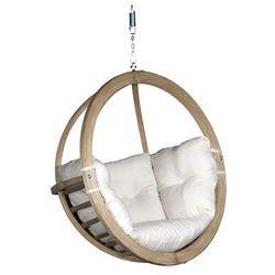 Fotel hamakowy drewniany, ecru Swing Chair Single