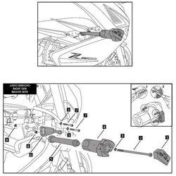 Crash pady PUIG do Kawasaki Z300 (czarne) z kategorii Crash pady motocyklowe