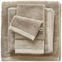 Marc o'polo Gruby ręcznik łazienkowy w odcieniu beżu, elegancki ręcznik bawełniany, , 30 x 50 cm, 50 x 100 cm