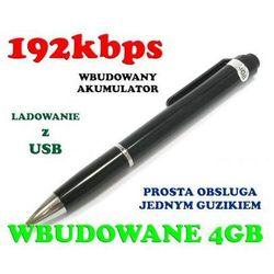Podsłuch Nagrywający Dźwięk Ukryty w Długopisie (poj. 4GB/70h.). z kategorii Podsłuchy