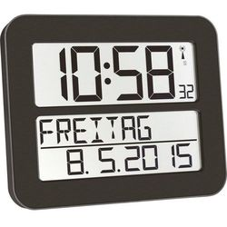 Zegar ścienny cyfrowy TFA 60.4512.01 Sterowany radiowo, (SxWxG) 258 x 212 x 30 mm