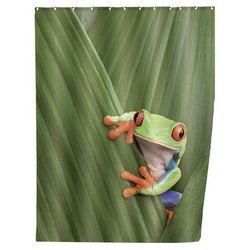 Zasłona prysznicowa, tekstylna, frog, 180x200 cm, marki Wenko