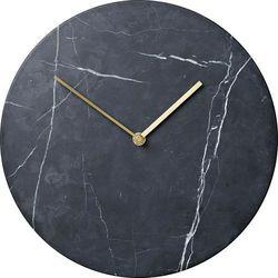 Zegar ścienny Marble czarny, 8200539