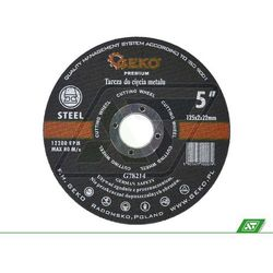 Tarcza do metalu Geko 125x1.6x22 G78213 - produkt z kategorii- Tarcze do cięcia