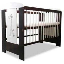 Klupś łóżeczko safari żyrafa ecru-orzech 120x60