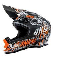 Kask Crossowy O'neal Seria 7 Evo X MENACE Matt Black/Neon Orange, towar z kategorii: Kaski motocyklowe