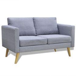 Vidaxl  jasno szara 2 osobowa, materiałowa sofa
