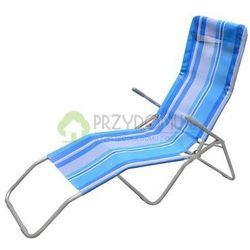 Leżak stalowy plażowy niebieski 48063, towar z kategorii: Leżaki ogrodowe