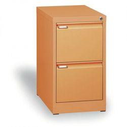 Szafa kartotekowa A4, 2 szuflady, cała pomarańczowa, wys. 1320 mm