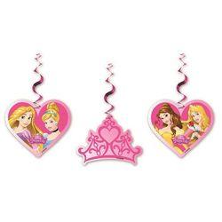 Dekoracja wisząca urodzinowa Princess - Księżniczka - 3 szt.