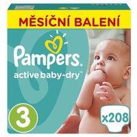 Pampers Pieluchy Active Baby 3 Midi - 208 sztuk z kategorii Pieluchy jednorazowe